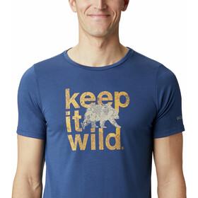 Columbia Terra Vale II Camiseta Manga Corta Hombre, carbon keep it wild